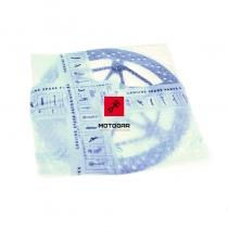 Prawa tarcza hamulcowa Aprilia RSV4 1000 Tuono V4 1100 2017 przód [OEM: 2B001135]