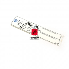 Naklejka na wahacz Honda NT 700 Deauville (inf. opony) [OEM: 87505MEWD40]