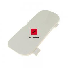 Zaślepka uchwytu rączki pasażera Honda VFR 800 lewa biała [OEM: 77217MCWD00ZL]