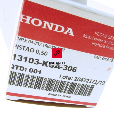 Tłok Honda XR 125 2003-2006 0.50 [OEM: 13103KGA306]