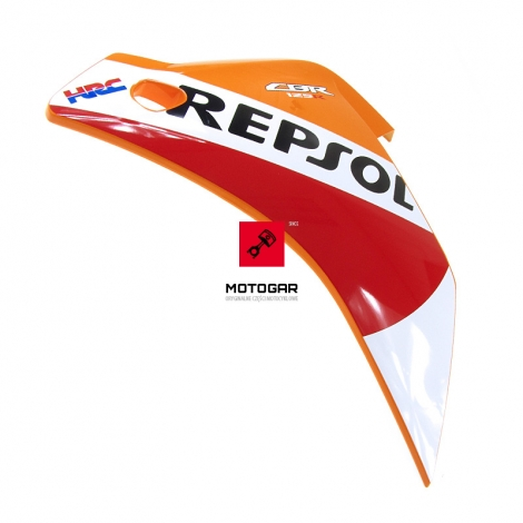 Panel owiewka Honda CBR 125 2015 2016 Repsol lewa [OEM: 64400KTYS30ZA]
