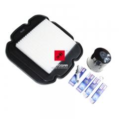 Zestaw serwisowy Suzuki DL 650 V-Strom 2012-2014 filtry świece [OEM: 1650027820]