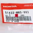 Tuleja, hydrauliczny tłumik dobicia lagi Honda GL 1500 Gold Wing [OEM: 51432MN5003]