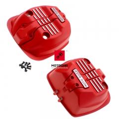 Pokrywy zaworów Moto Guzzi V7 III 750 czerwony zestaw [OEM: 606804M]