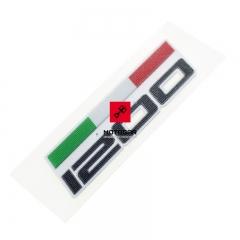 Emblemat flaga na bak Ducati Monster 1200 2014-2016 [OEM: 43511571A]