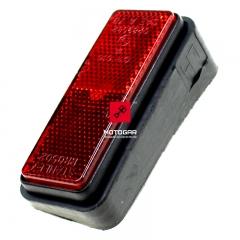 Odblask kufra Yamaha FJR 1300 2003 lewy czerwony [OEM: ABA5JW7221]