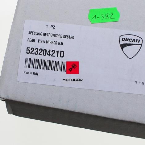 Lusterko Ducati Hypermotard Hyperstrada 2013-2018 prawe [OEM: 52320421D]