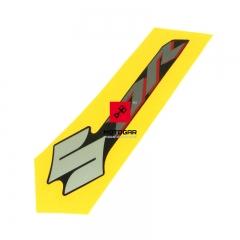 Naklejka emblemat zbiornika Suzuki DR 125 SM 2009 2010 lewy [OEM: 6812124H00FLD]