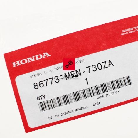 Naklejka emblemat Honda CB 1000R 2015 lewa tylna [OEM: 86773MFN730ZA]