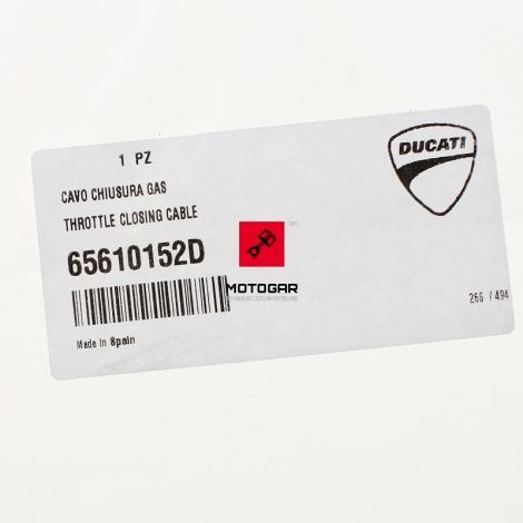 Linka gazu Ducati Monster 400 600 750 zamykająca [OEM: 65610152D]