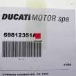 Nakładka kufra Ducati Multistrada 950 Touring 2017 lewa [OEM: 69812351A]
