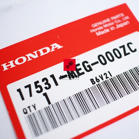 Naklejka na bak Shadow Honda VT 750C 04-05 [OEM: 17531MEG000ZC]