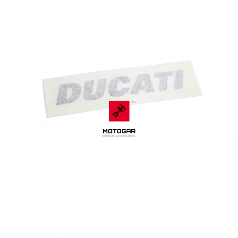 Naklejka Ducati na czachę, owiewkę przednią Ducati Superbike 848 11-12 [OEM: 43410041AG]