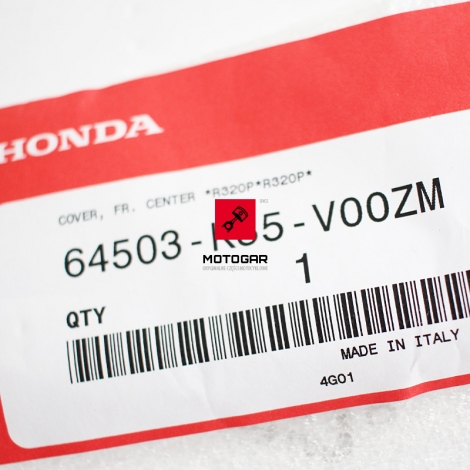 Plastik, zaślepka, osłona Honda PCX WW 125 czerwona [OEM: 64503K35V00ZM]