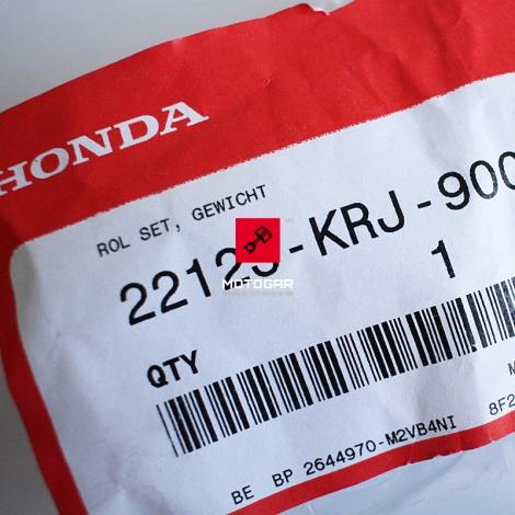 Zestaw rolki wariatora Honda FES Pantheon S-Wing NES PES SES SH125-150 [OEM: 22123KRJ900]