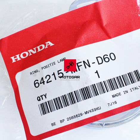 Obręcz obramowanie światła pozycyjnego Honda CB 1000 2011 2012 2013 [OEM: 64215MFND60]